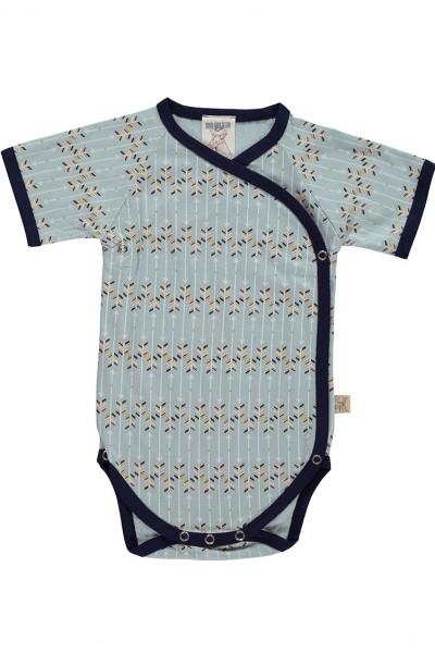 Body kimono azul estampado flechas