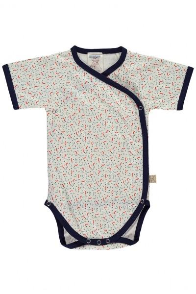 Body kimono estampado geométrico
