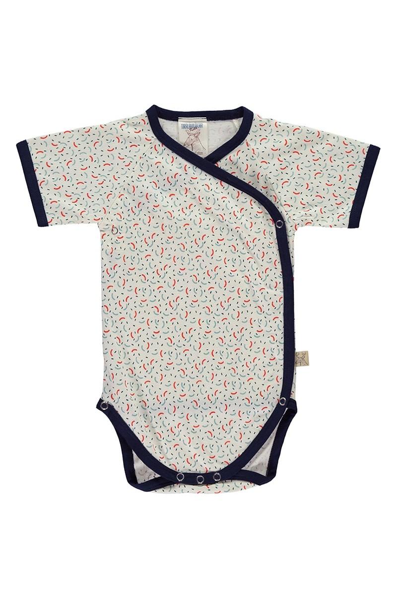 Body kimono de algodón organico estampado geométrico