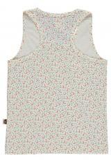 Camiseta de tirantes con bolsillo y estampado geométrico
