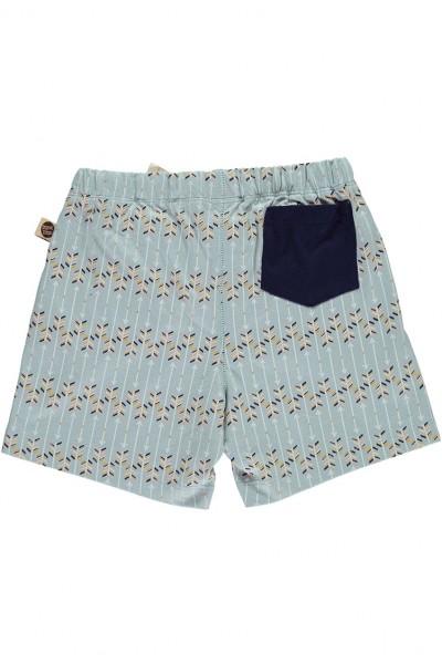 Short con bolsillo combinado estampado flechas