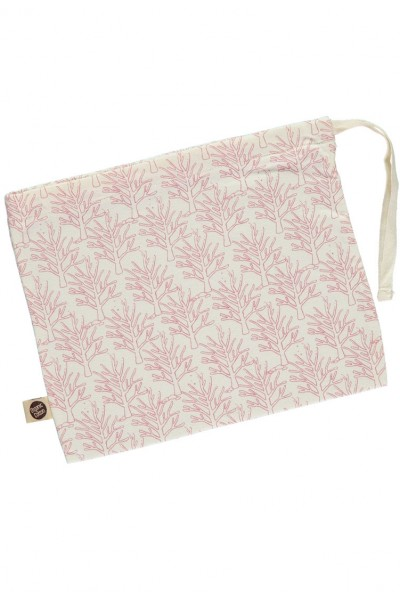 Cotton bag with corals print