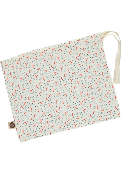 Cotton bag with geometric print