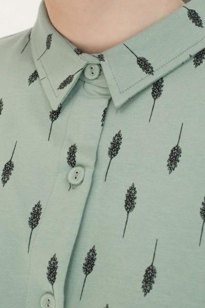 Vestido camisero Naiara estampado hojas.