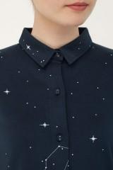 Vestido camisero Naiara estampado constelaciones.