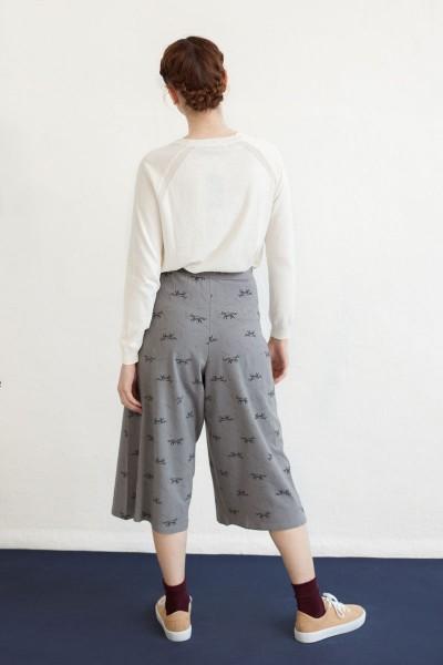 Falda pantalón Nadia estampado zorros.
