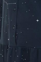 Vestido camisero charlestón Nelly estampado constelaciones.