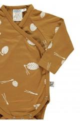 Body kimono con estampado piñas