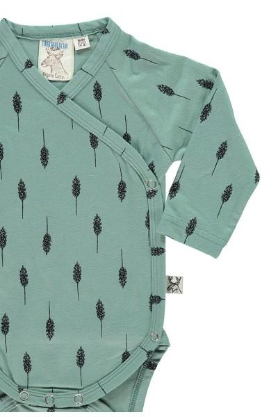 Body kimono con estampado hojas