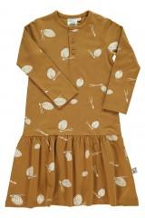 Vestido charlestón con solapa estampado piñas