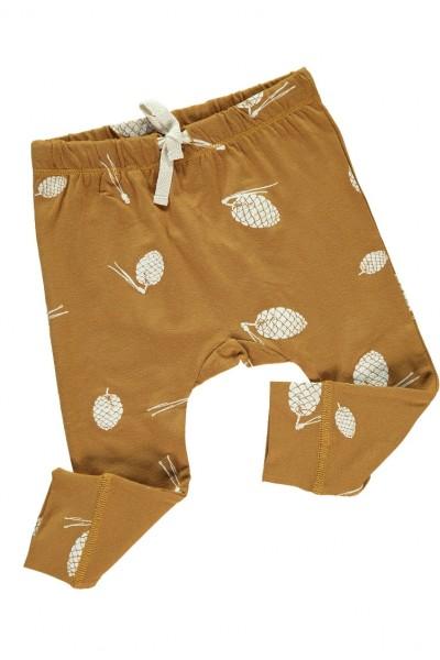 Pantalón Bebé con cinta en la cintura color mostaza