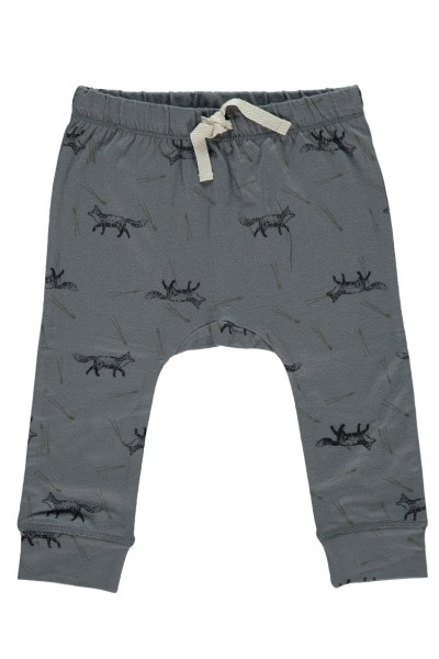 Pantalón Bebé con cinta en la cintura color gris