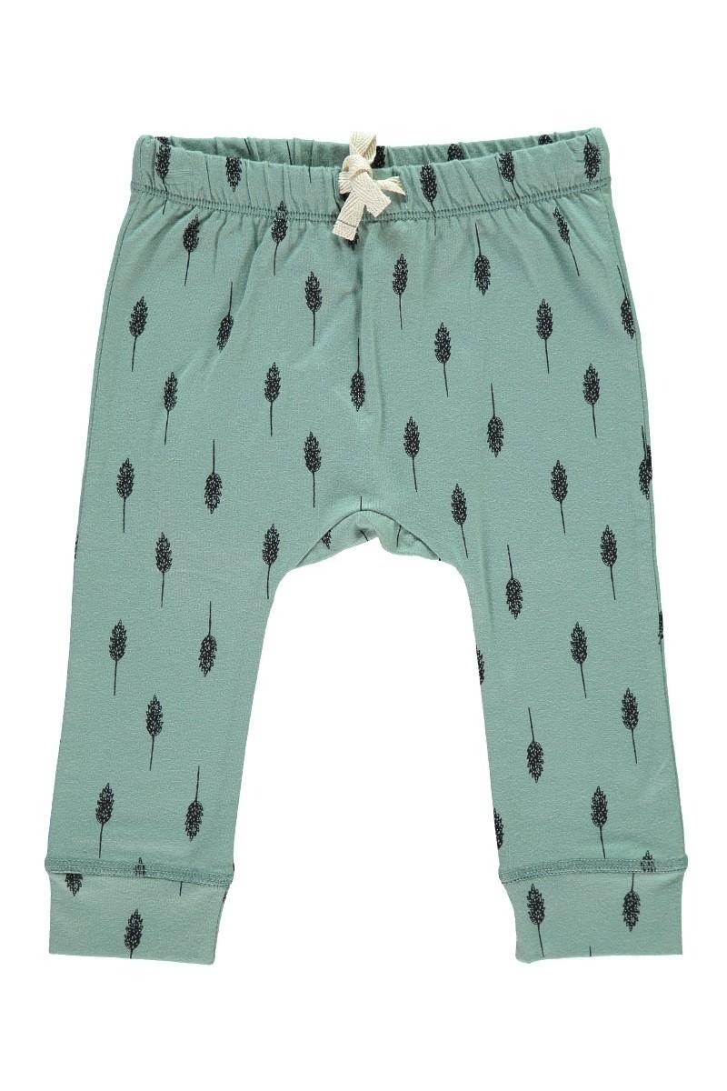 Pantalón Bebé con cinta en la cintura color verde