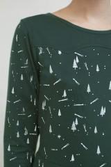 Vestido Nidia media capa estampado constelaciones.