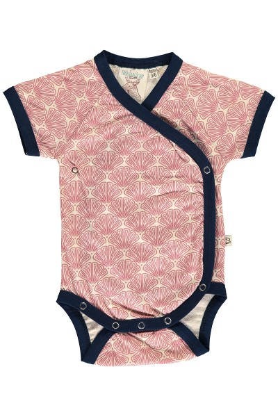 Kimono Organic Cotton Body in salmon and japanese print