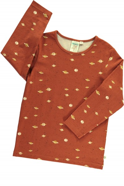 Unisex long sleeve t-shirt with Saturn print