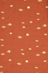 Baby Body kimono in terracotta and Saturn print