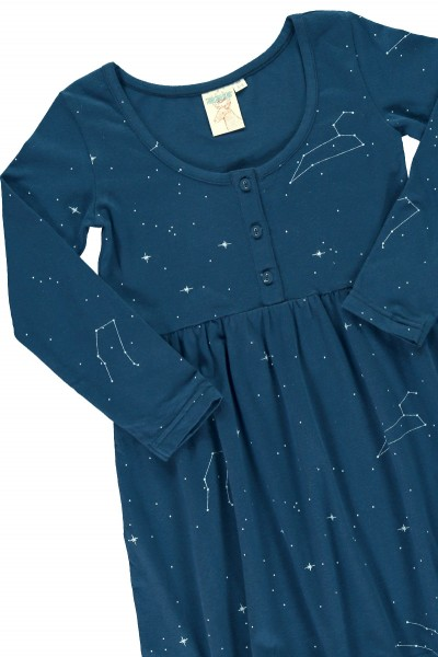 "Navy ""Classic"" dress with constallations print"