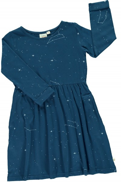 Relaxed fit dress in navy blue