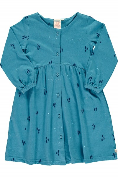 Oversized dress in Opal blue color