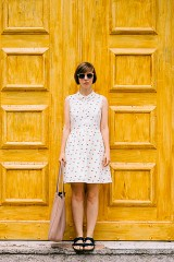 Ina dress with boat print