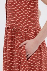 Vestido holgado teja Ana