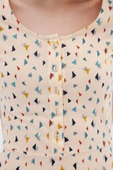 Vestido media capa triángulos Ara