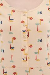 Vestido media capa abstract print Ara