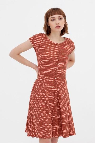 Vestido ranglán teja Adèle