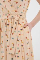 Vestido cruzado abstract print Amelie