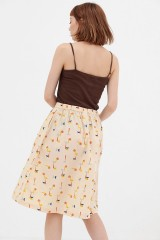Falda retro abstract print Adaya
