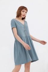 Vestido botones azul Anne
