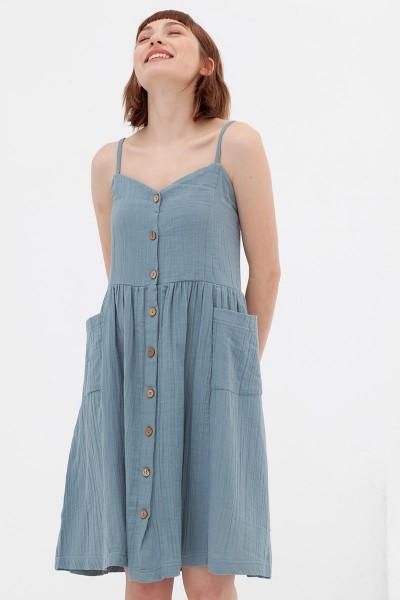 Vestido middi azul Alba