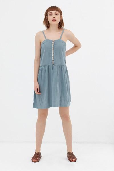 Vestido charlestón azul Ámbar