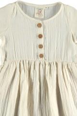 Vestido muselina crudo