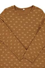 Camiseta unisex marrón estampado bicicletas