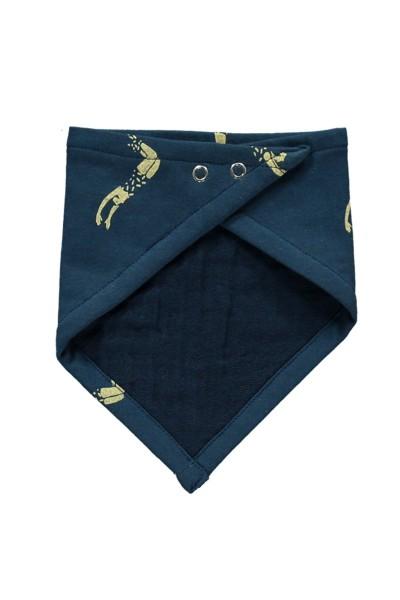 Babero reversible azul marino estampado