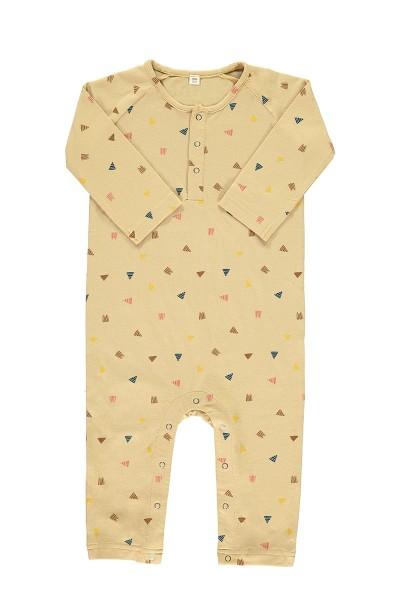 Mono bebé beige estampado triángulos