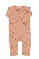 Mono bebé rosa estampado malabares