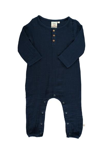 Mono bebé muselina basic azul marino