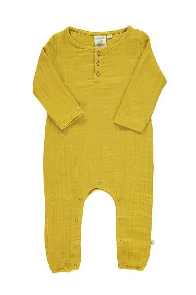 Mono bebé muselina basic mostaza