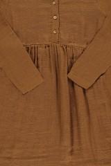 Vestido muselina basic marrón