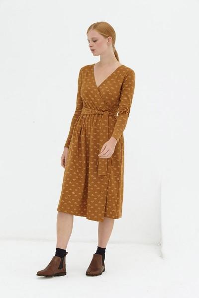 Vestido cruzado marrón Dafne