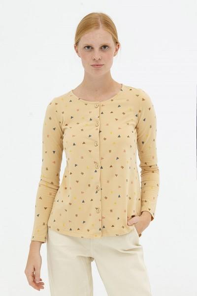 Blusa botones beige Delia reversible