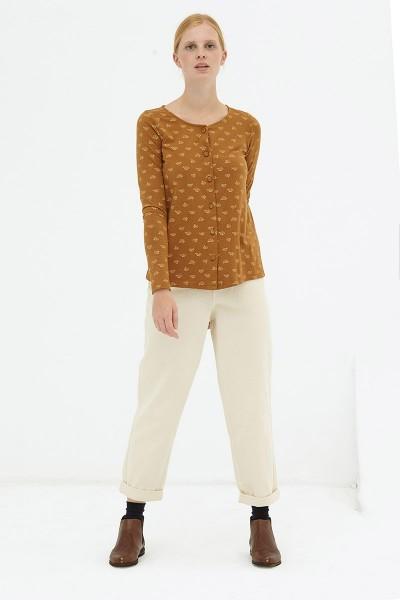 Blusa botones marrón Daniela reversible