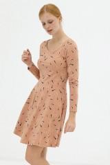 Vestido media capa rosa pastel Denisse
