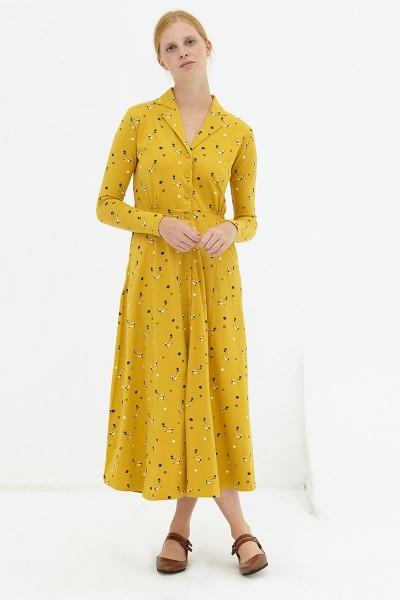 Vestido largo mostaza Dulce