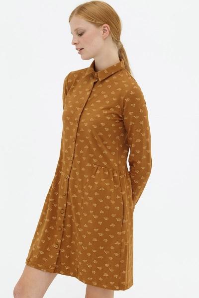 Vestido camisero marrón Dorothea