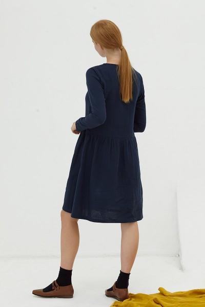 Vestido muselina navy Dalma
