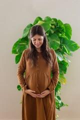Vestido muselina marrón Dalma